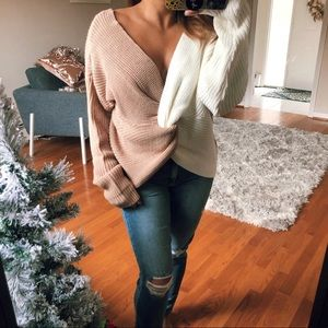 Sweaters - 🆕NORTH POLE twisted chunky sweater in NUDE/CREAM